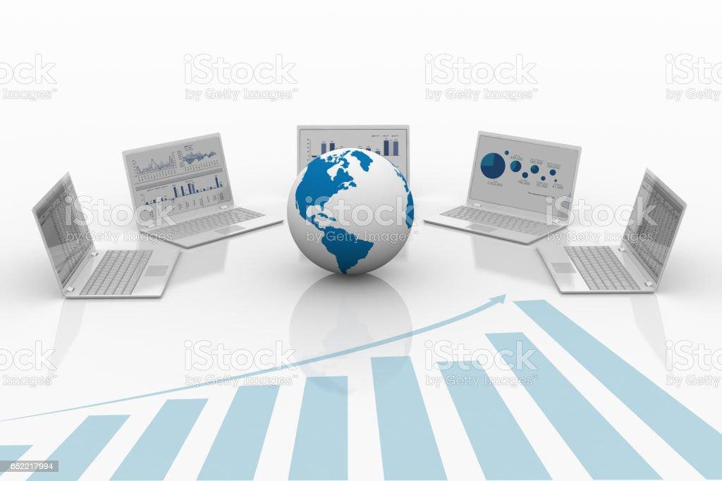 Technologie der Handel. – Foto