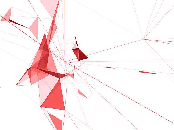 technology triangle neurone design for internet connection - design plat photos et images de collection