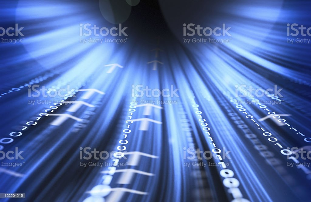 technology tunnel stock photo