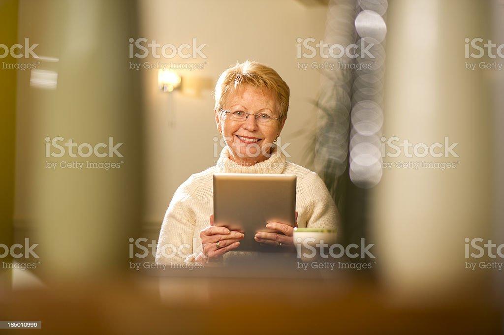 techy senior royalty-free stock photo