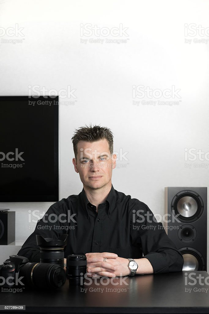 Tecnico del sono stock photo