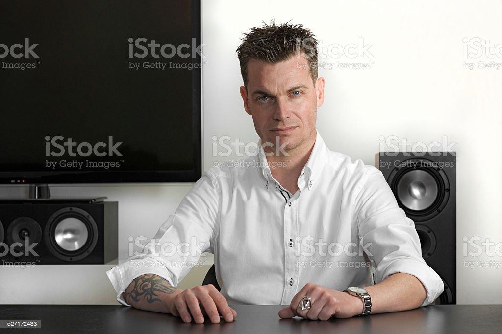 Tecnico del suono stock photo