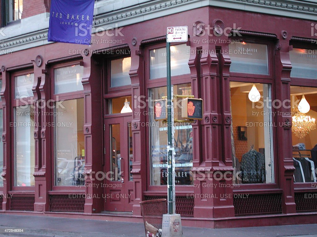 5324cdc4c Ted Baker clothing storefront in SoHo NYC royalty-free stock photo