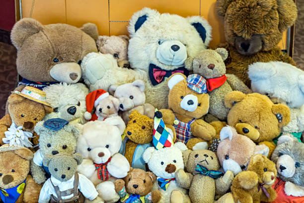 Teddys many teddy bears in a suitcase teddy bear stock pictures, royalty-free photos & images