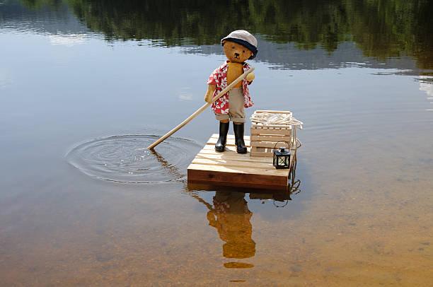 테디 베어 롤모델로서 ferryman 굴절률은 치실 - 부잔교 뉴스 사진 이미지