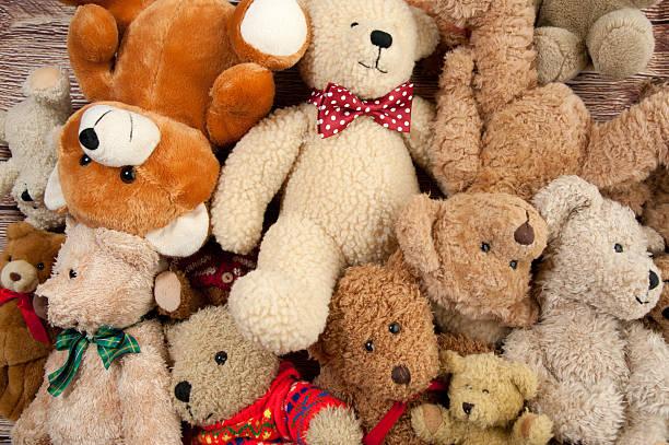 Teddy Bear Bunch stock photo