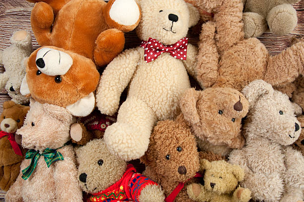 Teddy Bear Bunch http://ivanastarcevic.com/lightboxes/toys.jpg teddy bear stock pictures, royalty-free photos & images