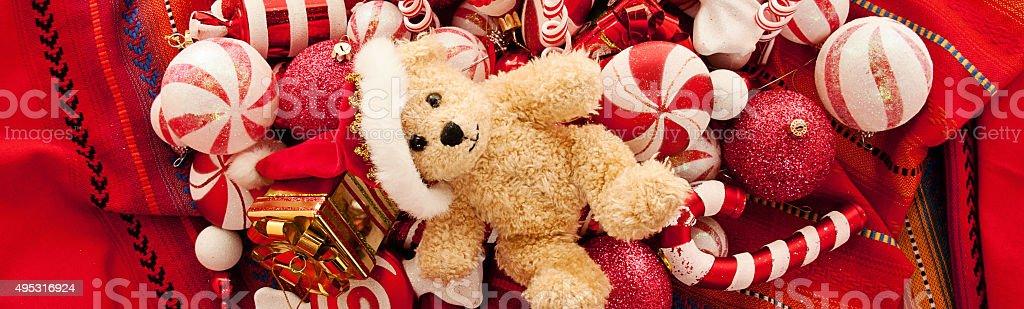 Teddy Bear with Christmas Gift