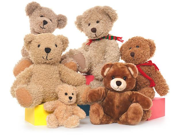teddy bear family - teddy bear stock photos and pictures