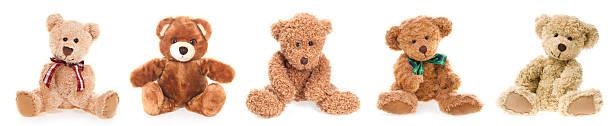 teddy bear friends - teddy bear stock photos and pictures