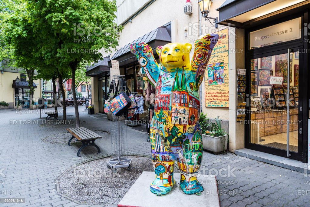 Teddy bear in Berlin, Germany stock photo
