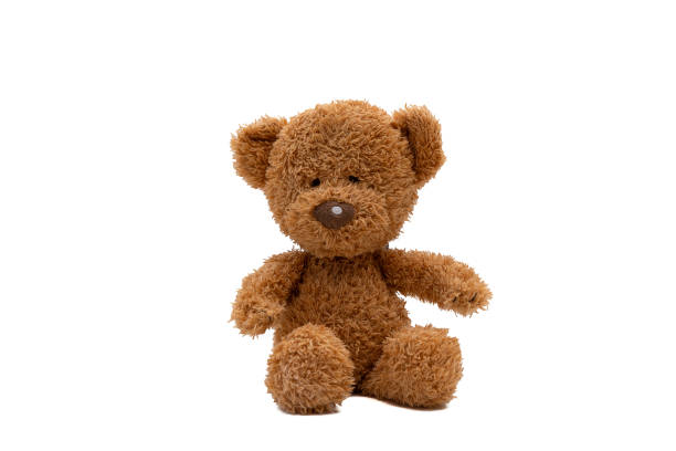 teddy bear isolated on white background - teddy bear stock photos and pictures