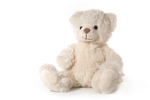 teddy bear isolated on white - teddy bear stock photos and pictures