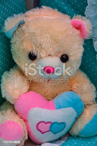 Teddy Bear toys with handmade Valentine