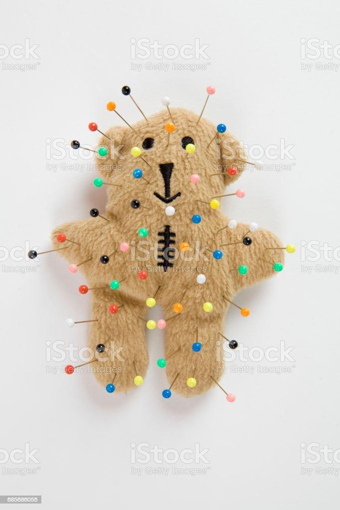 泰迪熊巫毒教 免版稅 stock photo