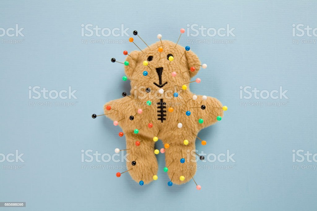 teddy bear voodoo foto de stock royalty-free