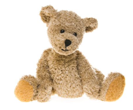 The same teddy bear is available in multiple, playful settings.