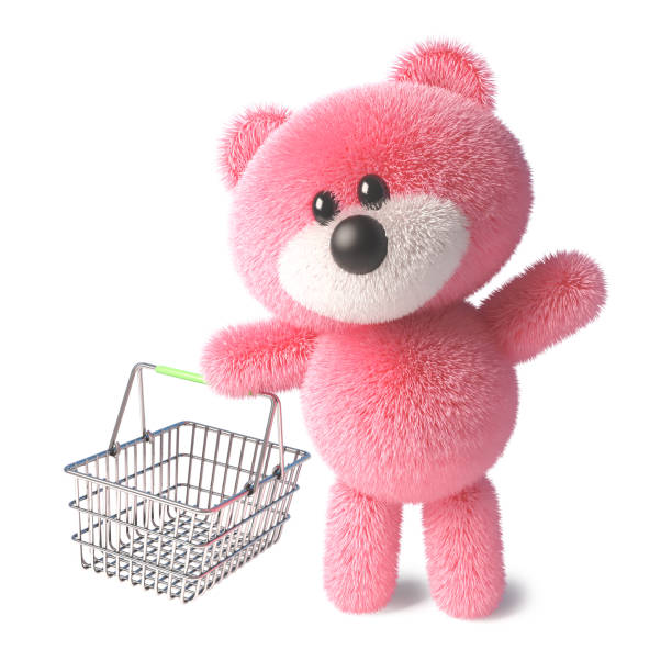 Teddy bear with fluffy pink fur carrying an empty shopping basket 3d picture id1164012233?b=1&k=6&m=1164012233&s=612x612&w=0&h=vx5arfr nuk8nkzqgawn0eep d5qbjrruaeupvqabmk=