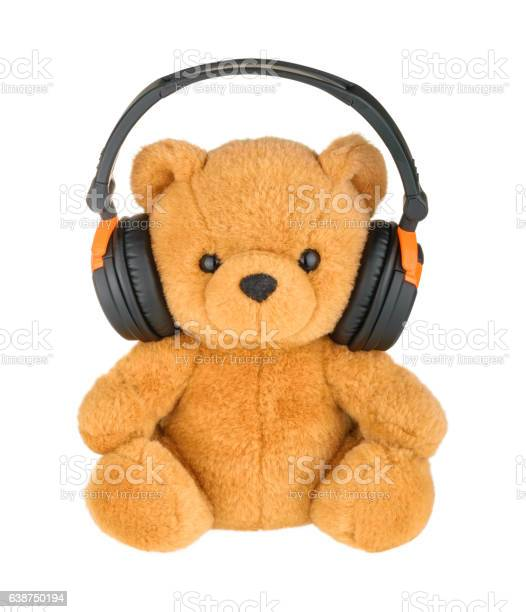 Teddy bear with headphones isolated on white picture id638750194?b=1&k=6&m=638750194&s=612x612&h= jdijfvxvagmfn1td0ik4dkji5k7p0iodssqxku4xte=