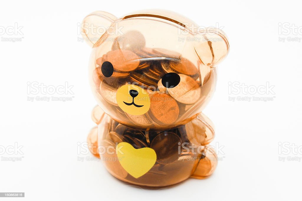 Teddy Coin Bank - Royalty-free Brown Stock Photo