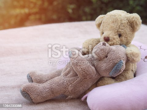 istock Teddy lover valentine and wedding concept 1264233388