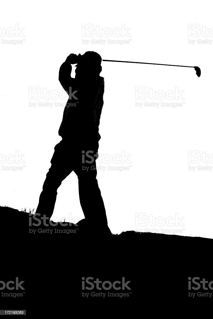 Teed off stock photo