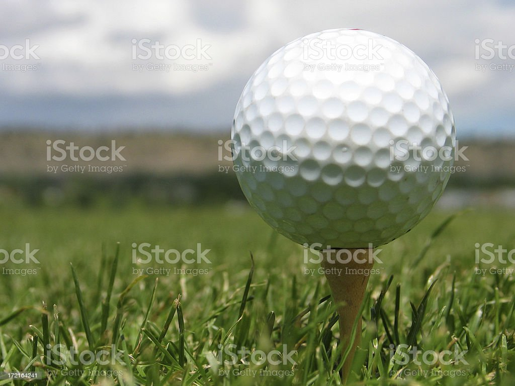 Teed Up stock photo