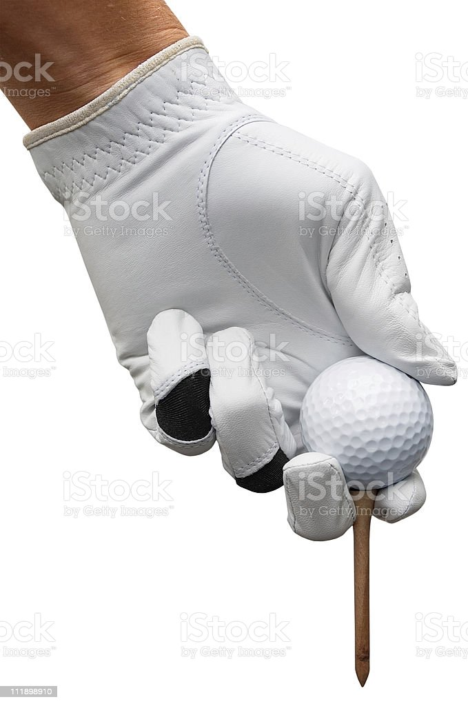 Teeing off a Golf ball royalty-free stock photo