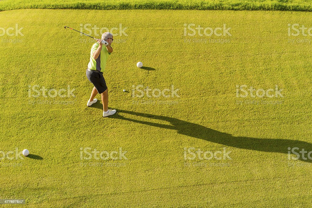 Teeing off from the tee box royalty-free stock photo