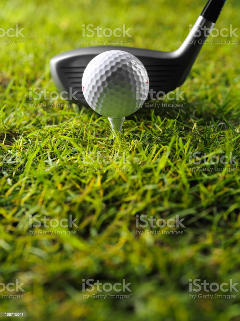 Teeing off in Golf royalty-free stock photo