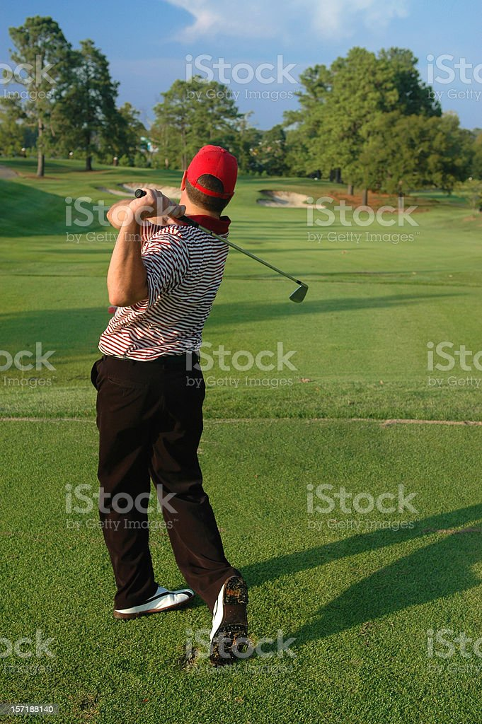 Teeing Off royalty-free stock photo
