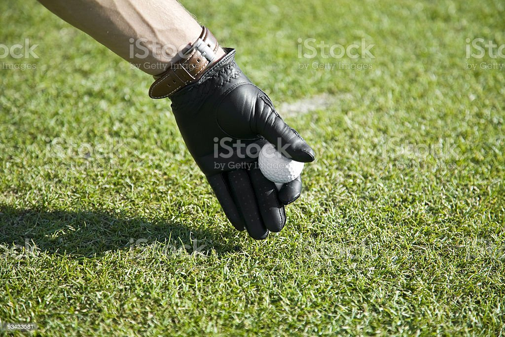 teeing up royalty-free stock photo