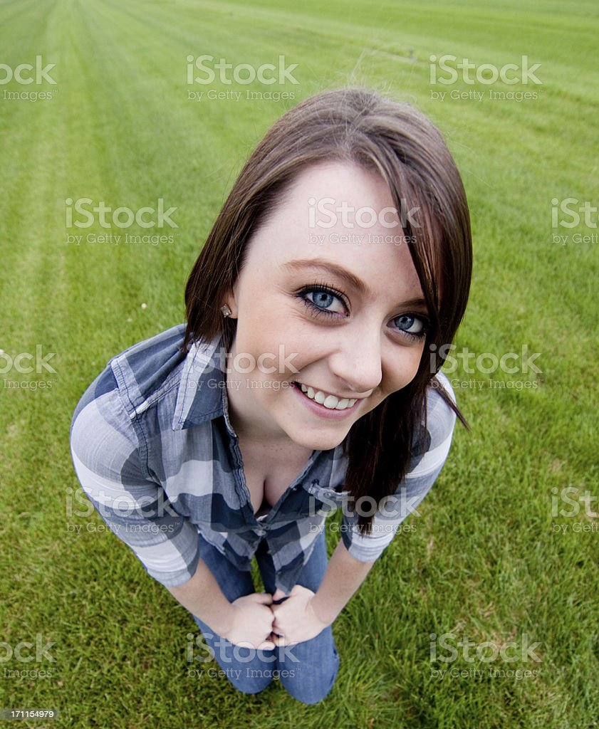 Teen acting funny royalty-free stock photo