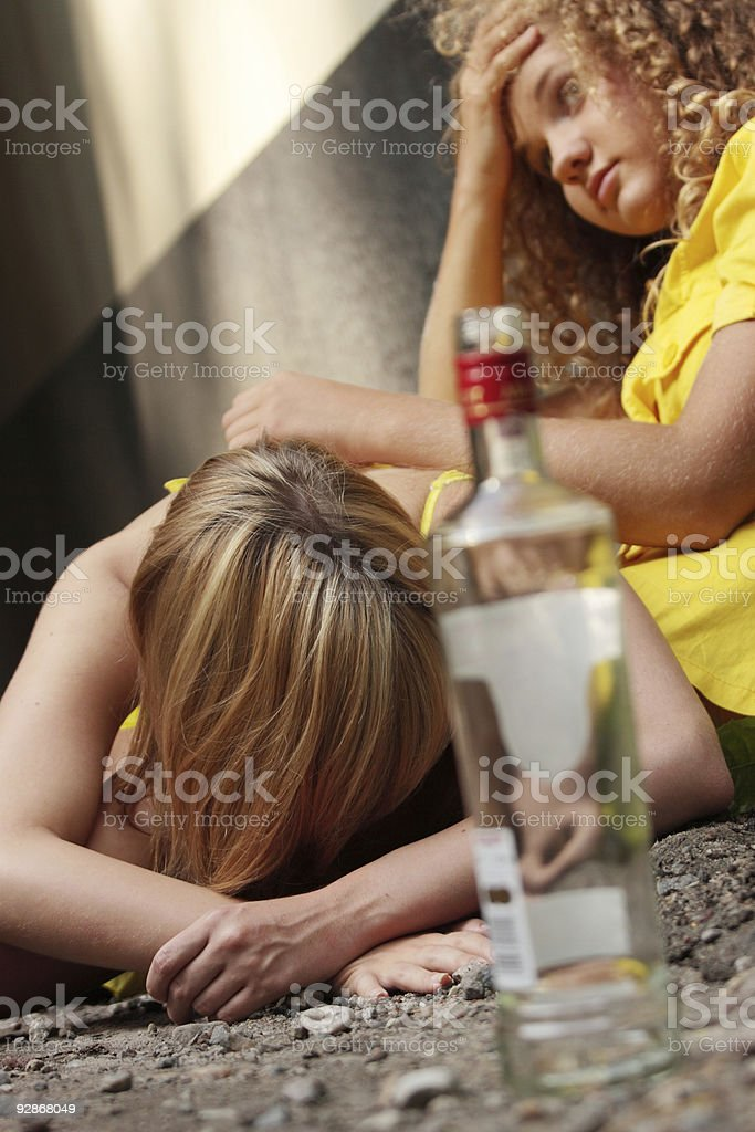 Teen alcohol addiction royalty-free stock photo