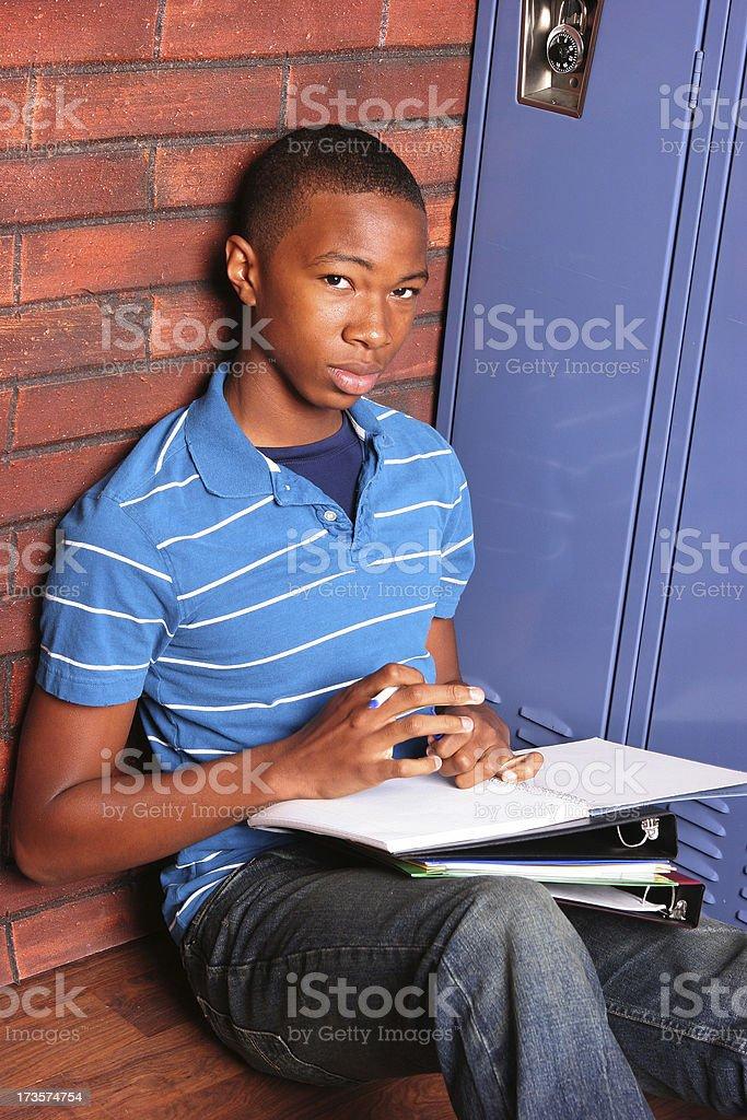Teen at School stock photo