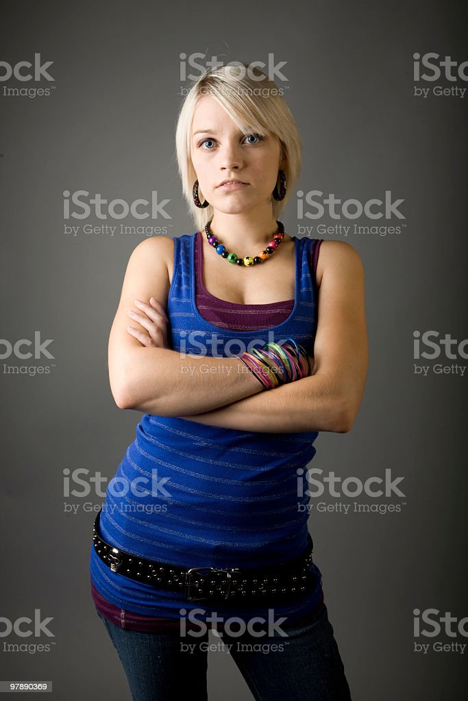 Teen Attitude royalty-free stock photo