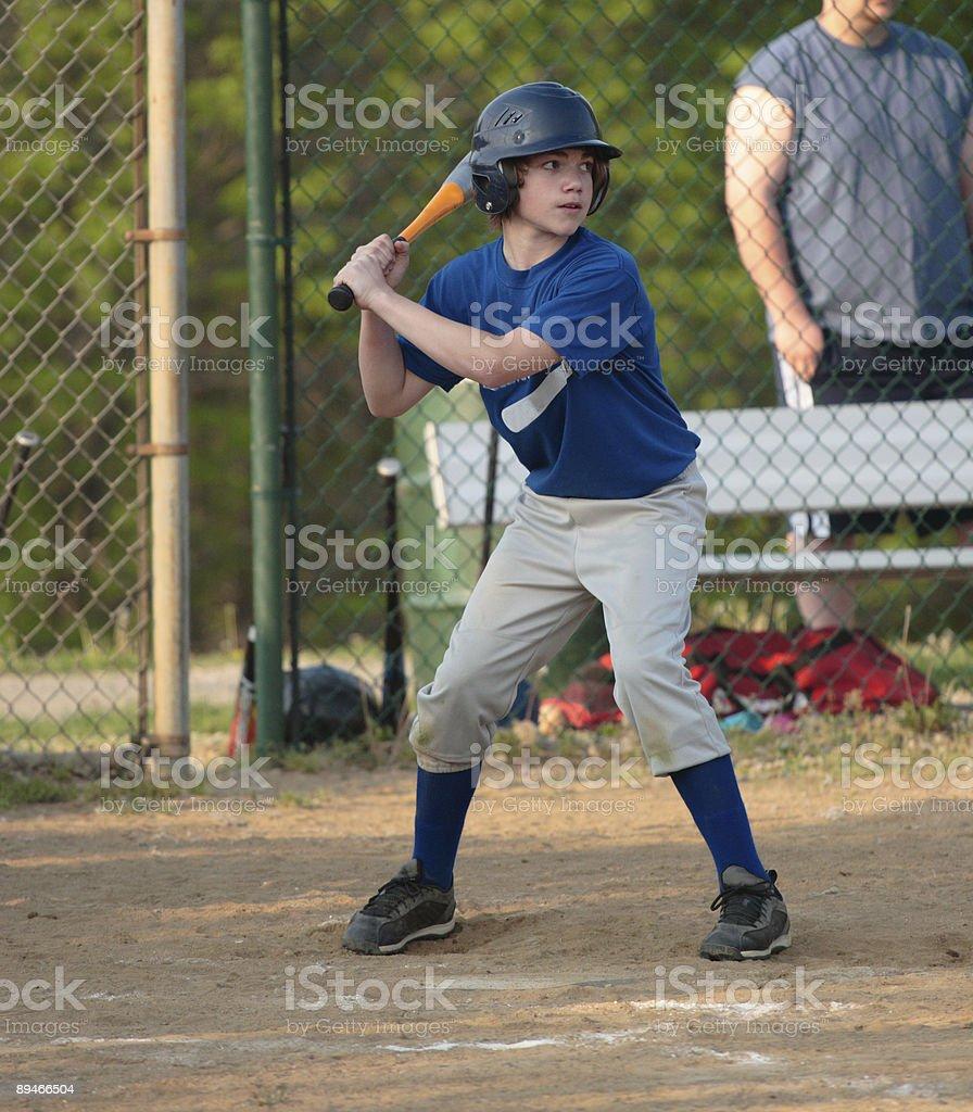 Teen Baseball Batter royalty-free stock photo
