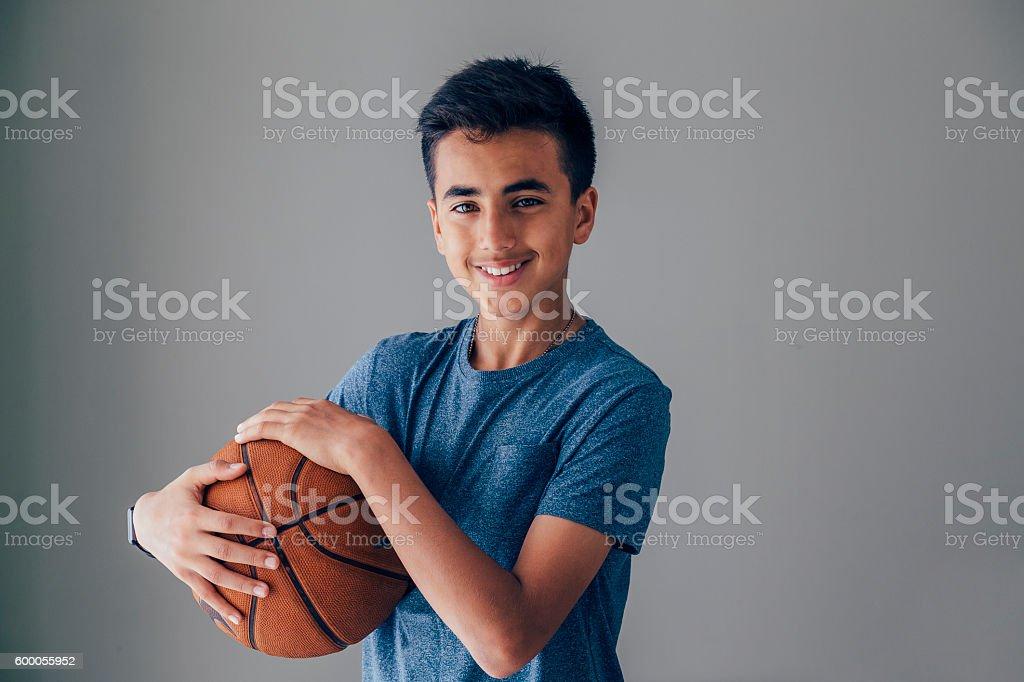 Teen Basketball Player stock photo