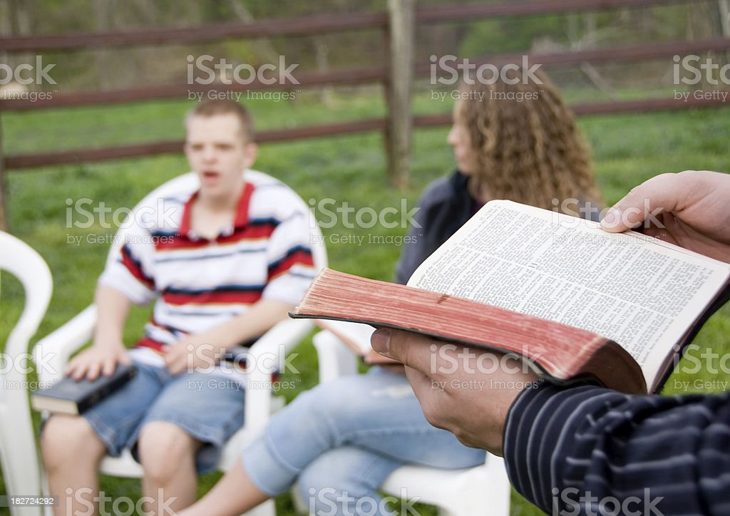 Teen Bible Study royalty-free stock photo