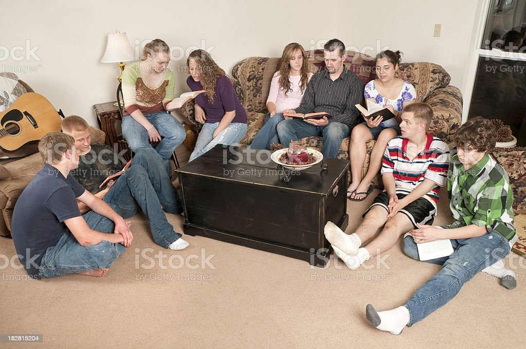Teen Bible Study royalty-free stock photo