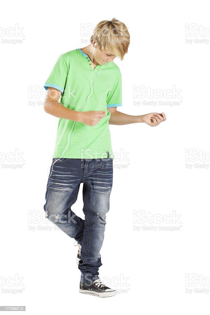 teen boy mit Musik und Tanz – Foto