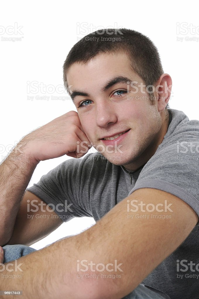 Teen boy portrait royalty-free stock photo