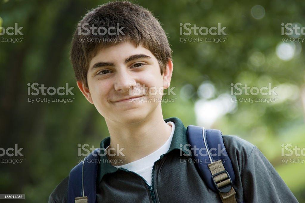Teen Boy Student royalty-free stock photo