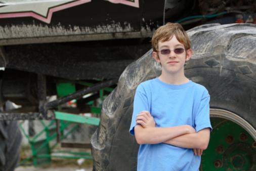 Teen By Monster Truck