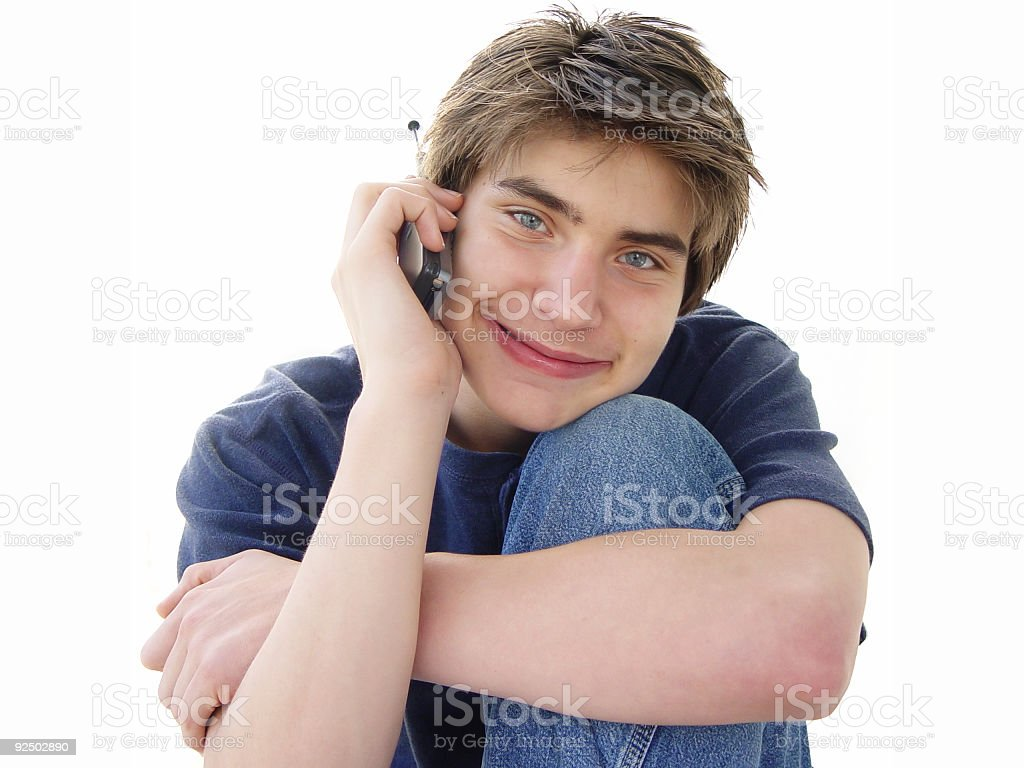 teen cell series - happy royalty-free stock photo