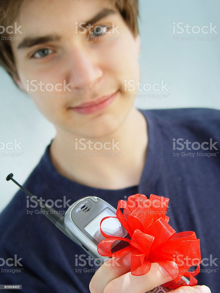 teen cell series - the gift royalty-free stock photo