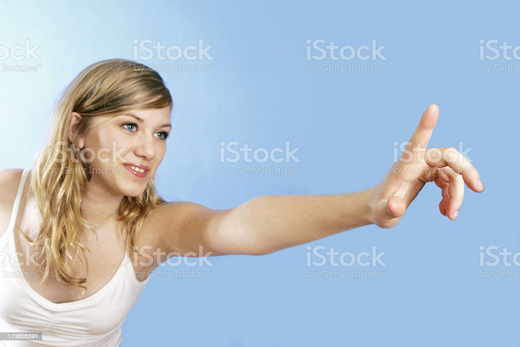 Teen clicking royalty-free stock photo