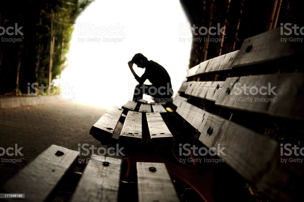 teen depression, tunnel, young stock photo