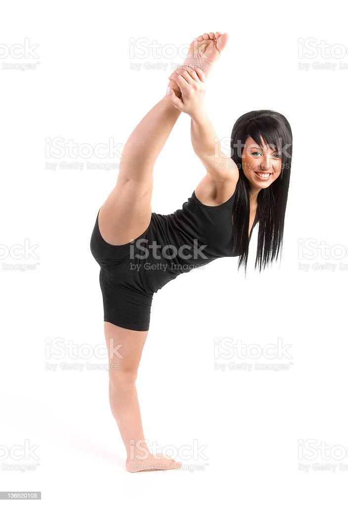 teen doing the splits in air royalty-free stock photo