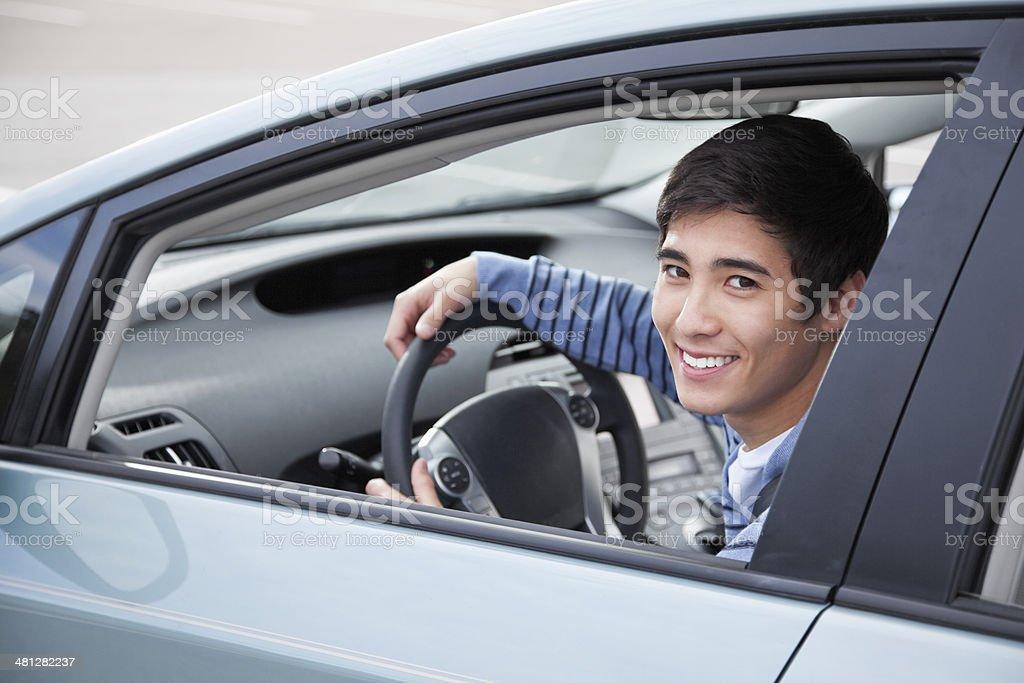 Teen driver stock photo